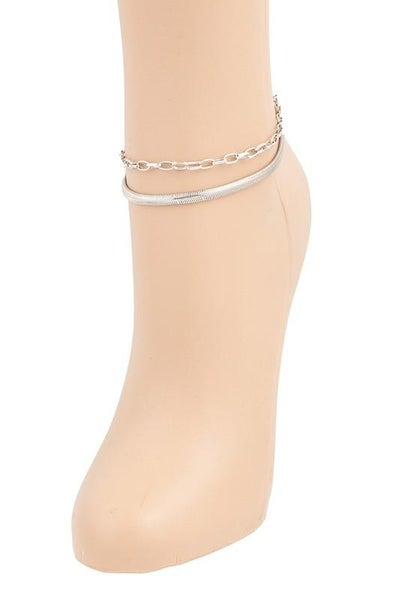 Herringbone Anklet