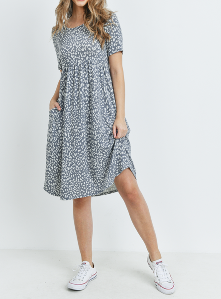 The Leopard Tee Dress