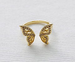 Butterfly Pave Crystal Ring