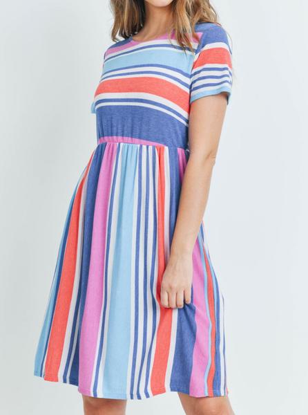 Spring Stripes Tee Dress