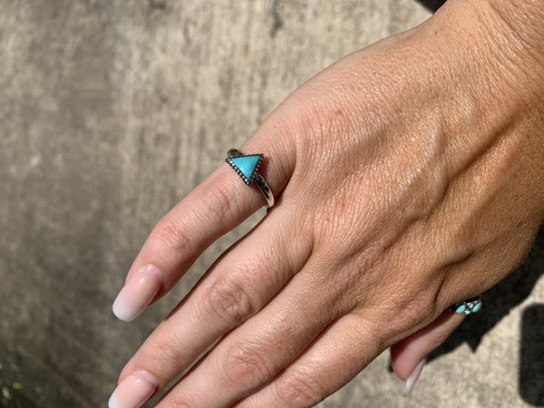 Sterling Silver Triangle Stacker Ring