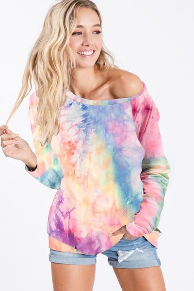 Tie Dye Soft Knit Jersey Pull Over