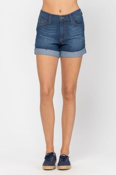 Judy Blue Cuffed High Waisted Shorts