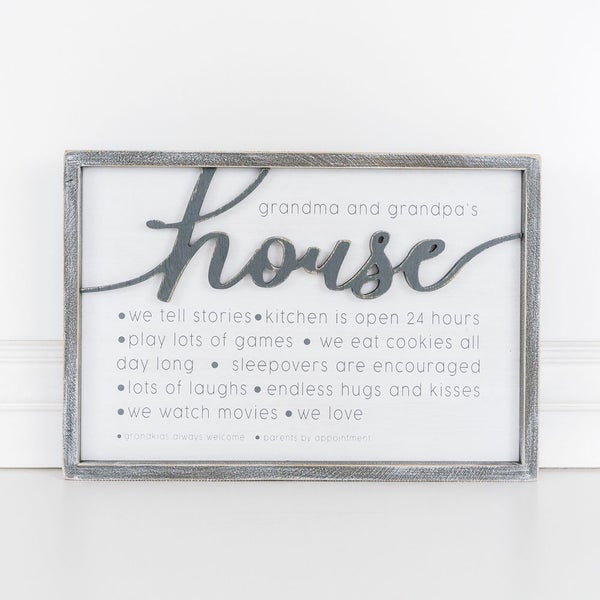 Reversible Grandparents  House Sign