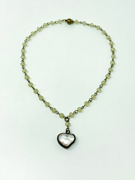 "Melania Clara ""Corine"" Small Heart Beaded Necklace"
