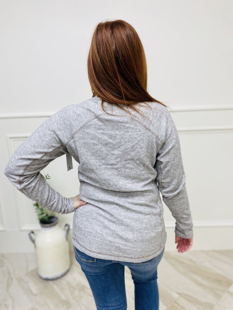 Quarter-Zip Contrast Stitched Pullover