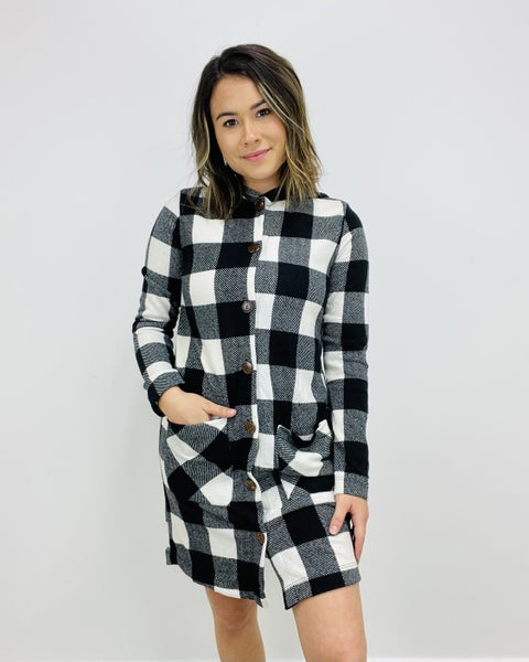 Hooded Cardigan with Patch Pockets