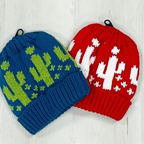 L&B Knit Beanie with Cactus