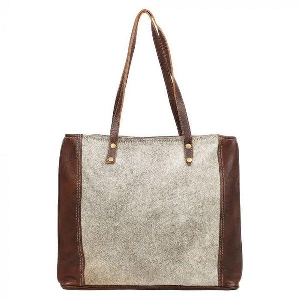 Myra Silvered Tote Bag