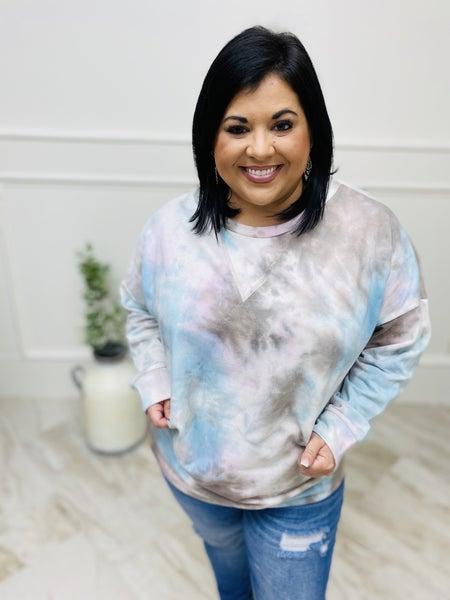 Long Sleeve Tie Dyed Sweatshirt