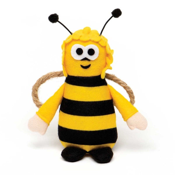 HUMBLE BUMBLE BEE WITH ANTENNA, ARMS, ROPE WINGS AND FEET