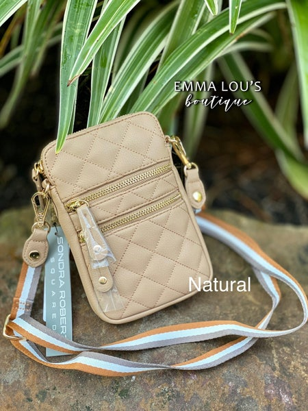 Quilted Cross body Cellphone Case