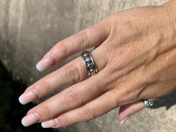 Sterling Silver Navajo Stacker Ring
