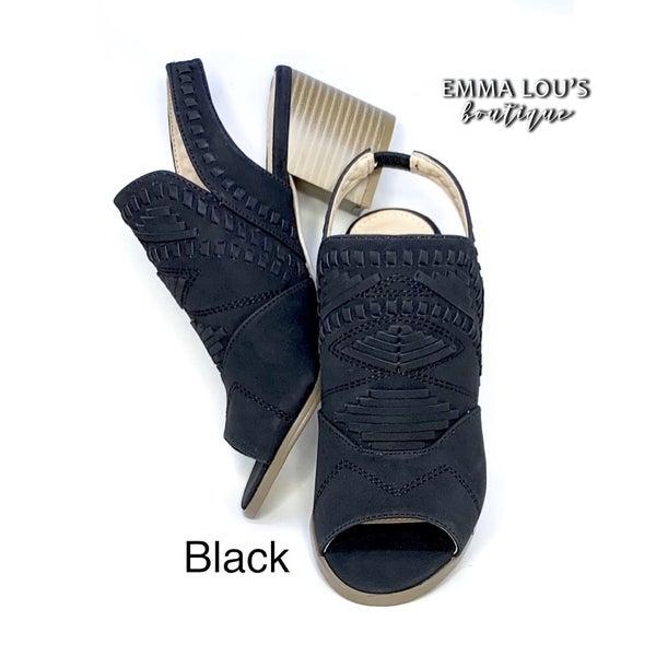 L&B Open Toe Block Heel Booties