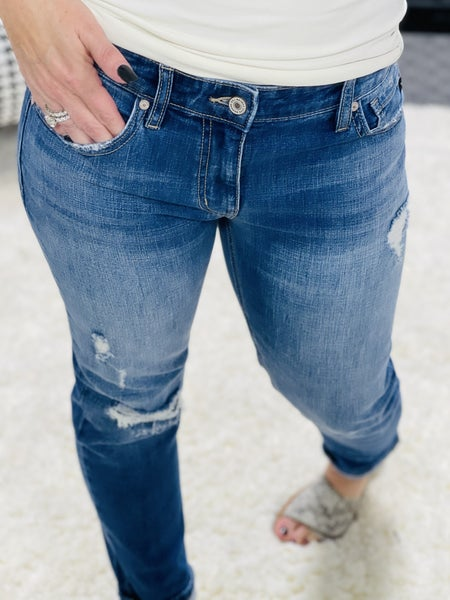 Kancan Mid Rise Boyfriend Jeans