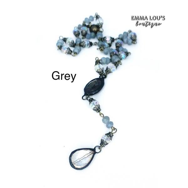 Melania Clara Rosa Short Necklace with Pendant