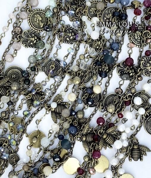 "Melania Clara ""Pepa"" Multi Strand Beaded Bracelet"