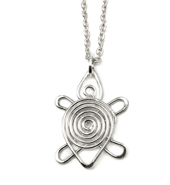 Necklace with Anju Silver Plated Wire Pendant