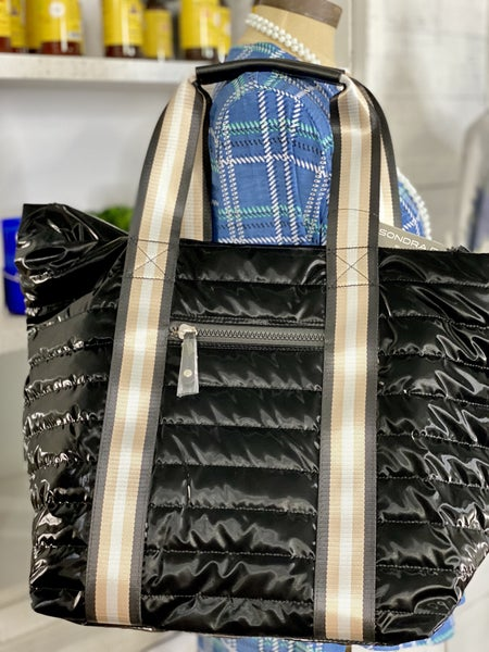 Large Deluxe Shiny Detail Tote