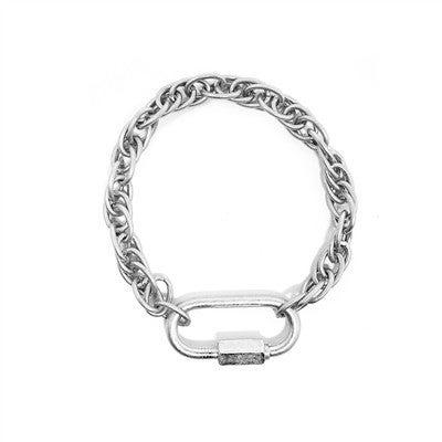 Worn Chain with Locket Clasp