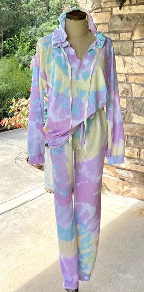 Tie Dye Hoodie and Sweatpants Set