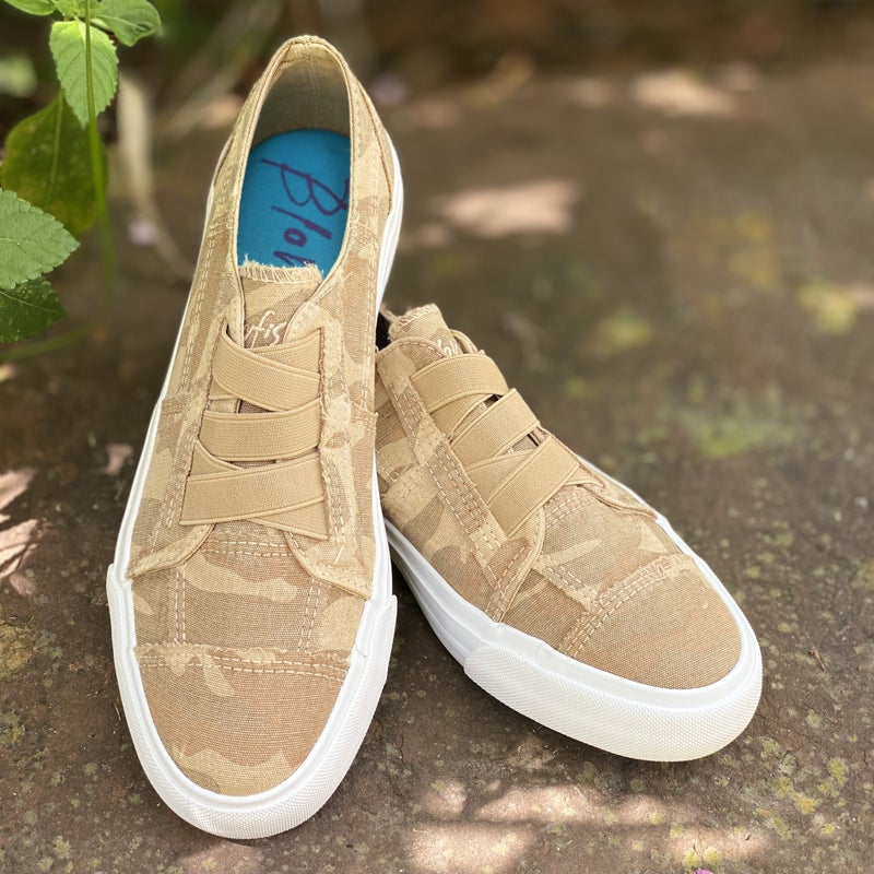 Blowfish Marley Latte Spots Print Canvas Tennis Shoes