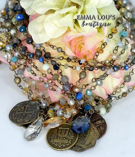 "Melania Clara ""Charlotte"" Short Double Layer Necklace"