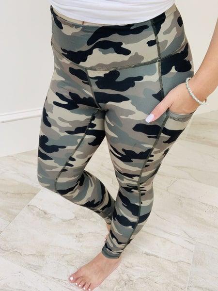 Camo Printed Full Length Yoga Leggings