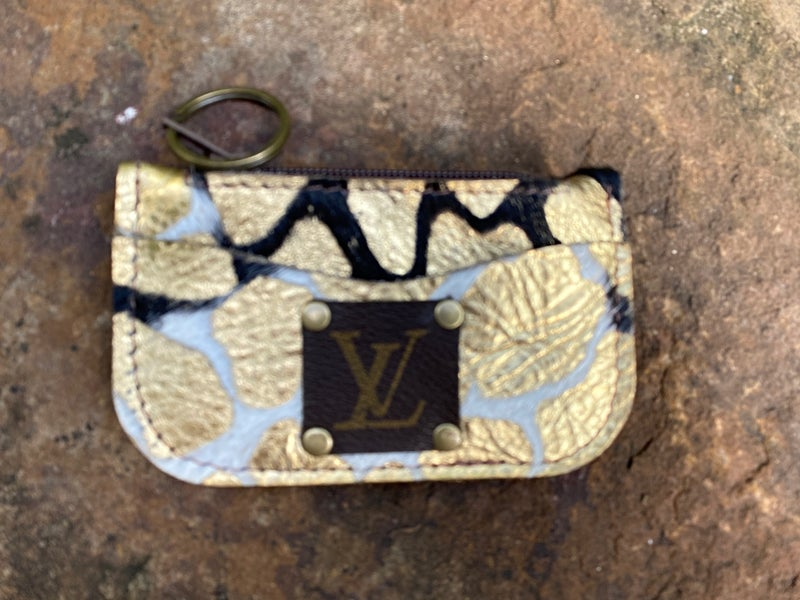 LV Up-Cycled Leather Credit Card Holder