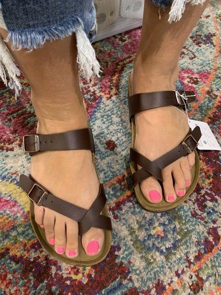 Designer Inspired Leather Sandal
