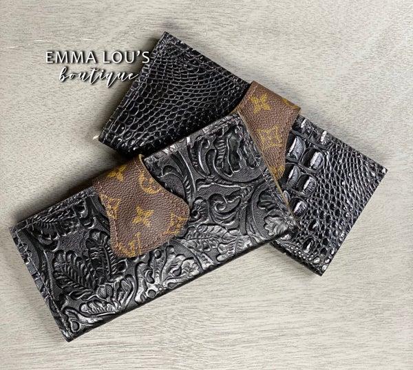 Leather Black LV Wallet