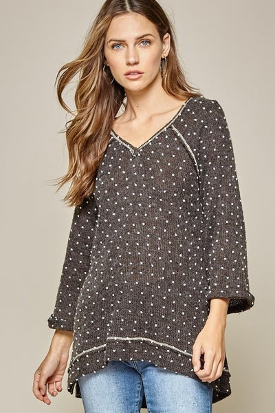 Andree by Unit V-Neckline Knit Top