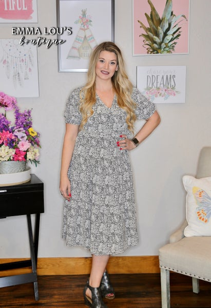 Laura Tiered Midi Dress