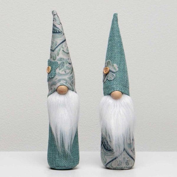 Chateaux Gnome Boys Sitters - Mint/Paisley