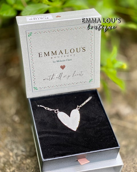 """The """"Paige"""" Solid Heart Necklace"""