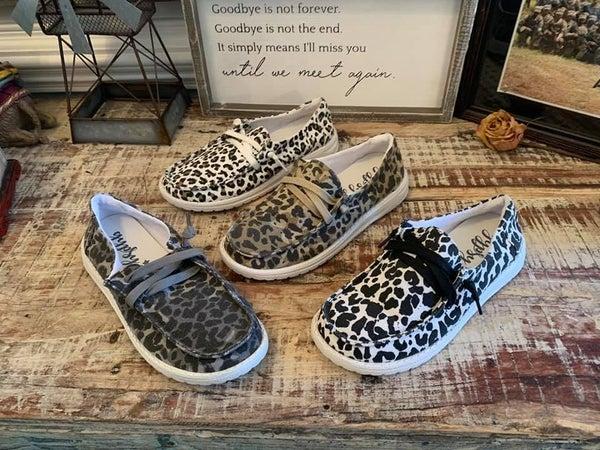 Very G Cheetah Slip On Shoes