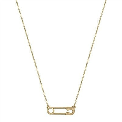 """Matte Safety Pin 16"""" - 18"""" Necklace"""