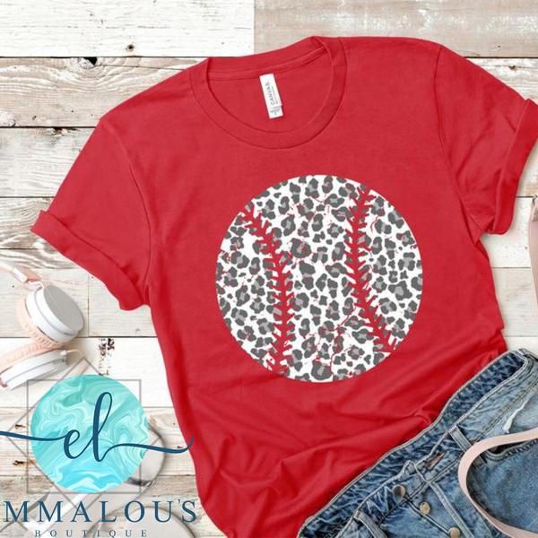Leopard Baseball Tee PREORDER