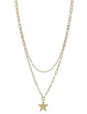 """Gold Layered and Star 17"""" - 19"""" Necklace"""