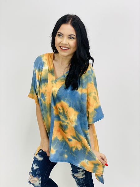 Tie-Dye Printed Thermal Knit Tunic