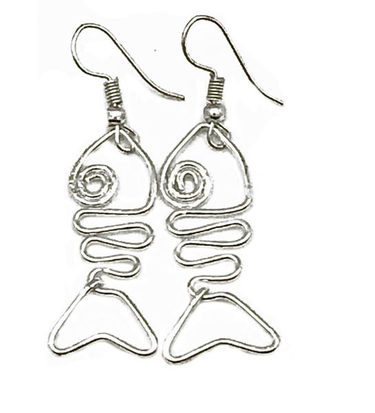 Anju Silver Plated Wire Earrings