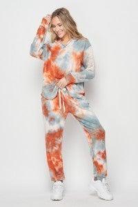 honeyme Two Piece Tie Dye Jogger Set