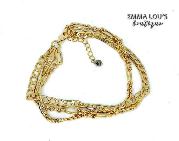 Melania Clara Lila Gold Bracelet