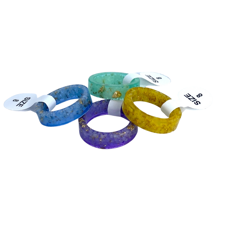 Colored Fashion Ring Bands