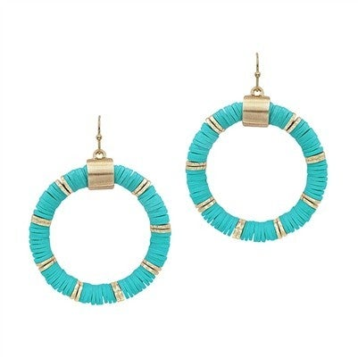 """Rubber 2"""" Circle Earring"""