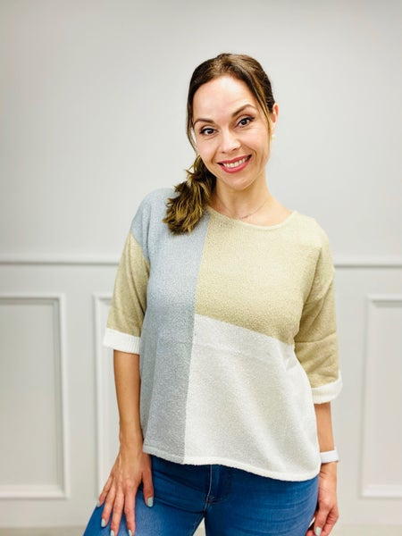 3/4 Length Sleeve Top with Tie Back