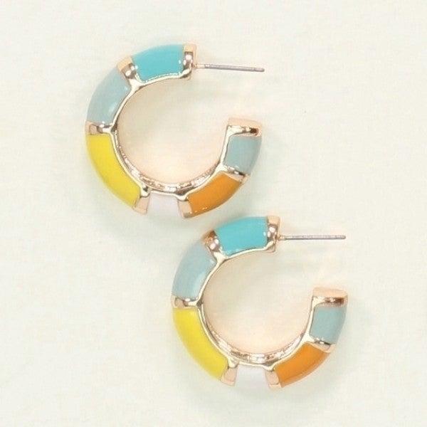 Multi Color Hoop Earrings
