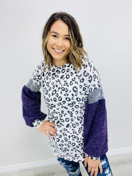 Predator Print Graphic Knit Sweater