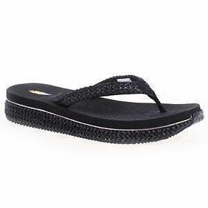 Women Volatile Palau Rubber Sole Thong Wedge Sandal