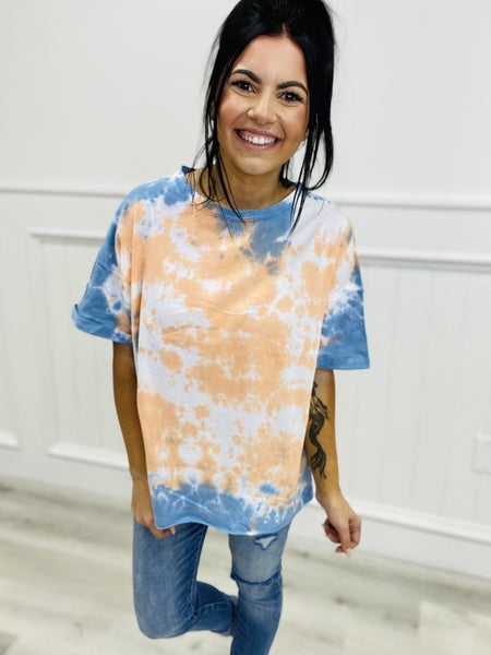 Must Have Short Sleeve Tie Dye Boxy Top